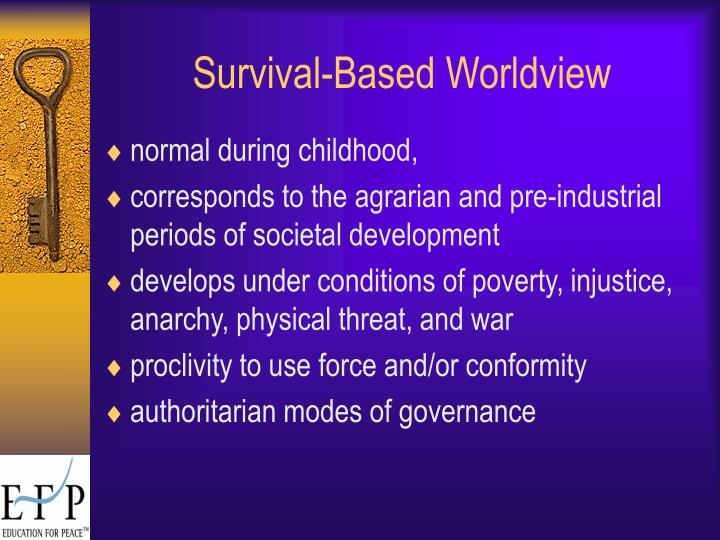 Survival-Based Worldview