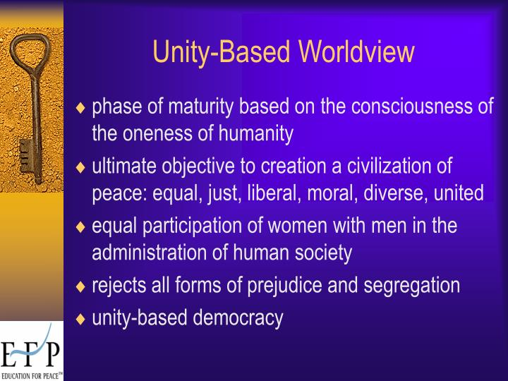 Unity-Based Worldview