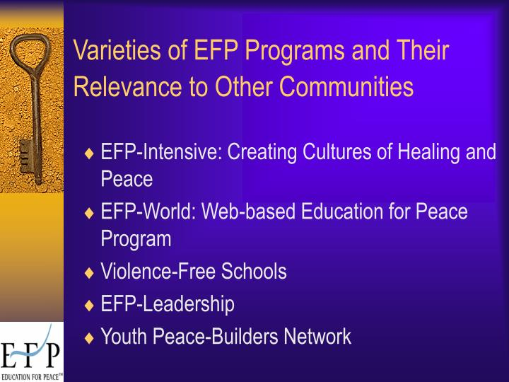 Varieties of EFP Programs and Their