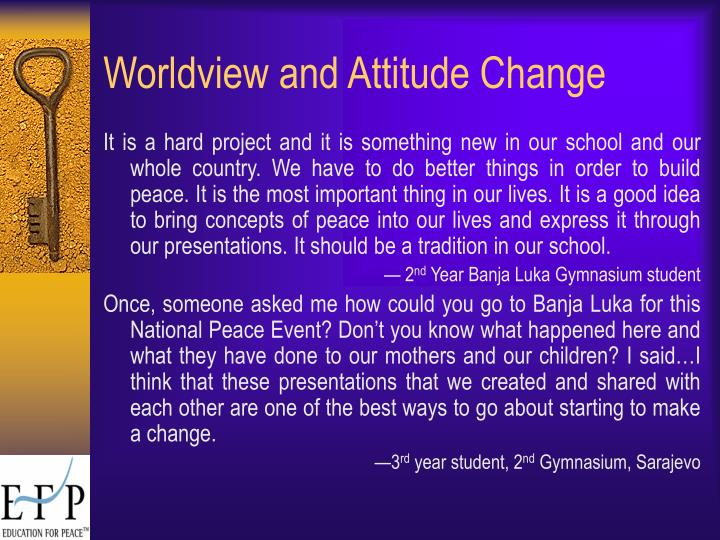 Worldview and Attitude Change