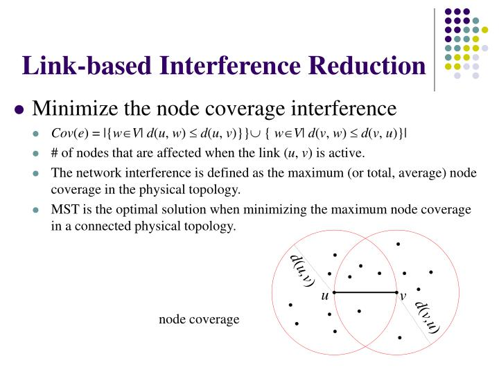 Link-based Interference Reduction