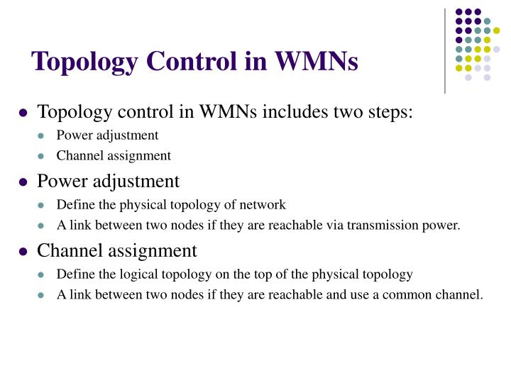 Topology Control in WMNs