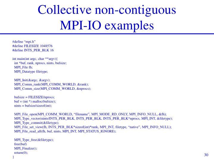 Collective non-contiguous