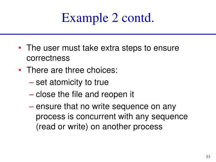 Example 2 contd.