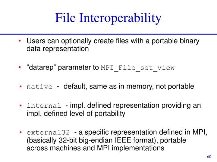 File Interoperability