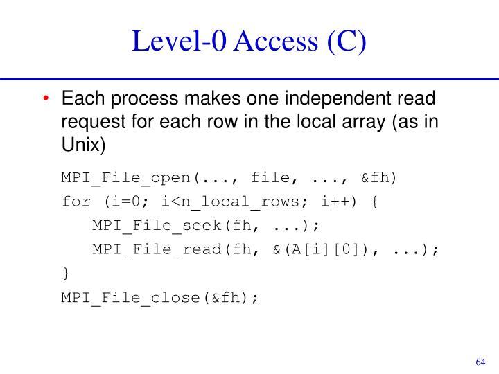 Level-0 Access (C)