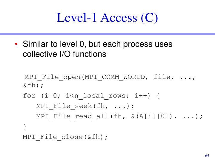 Level-1 Access (C)