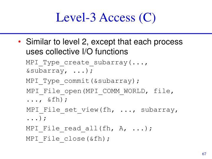 Level-3 Access (C)