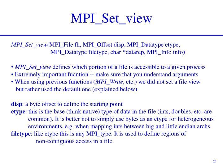 MPI_Set_view