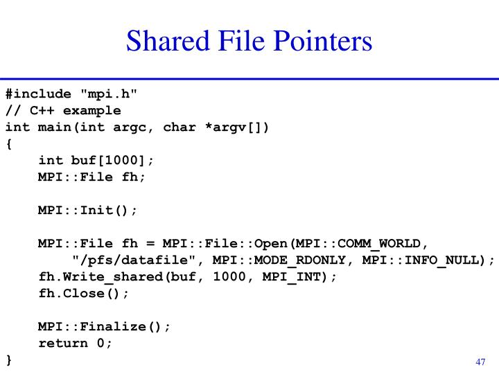 Shared File Pointers