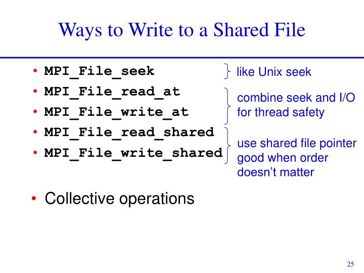 Ways to Write to a Shared File