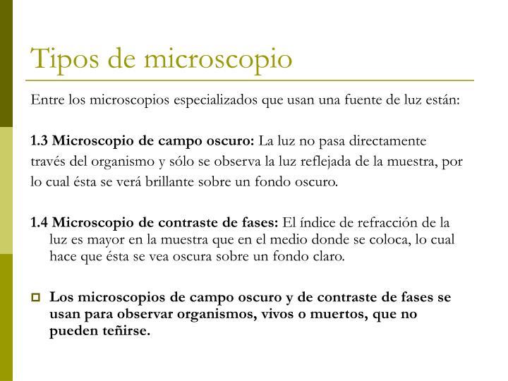 Tipos de microscopio