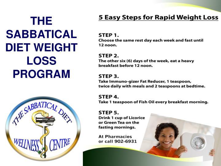 THE SABBATICAL DIET WEIGHT LOSS PROGRAM