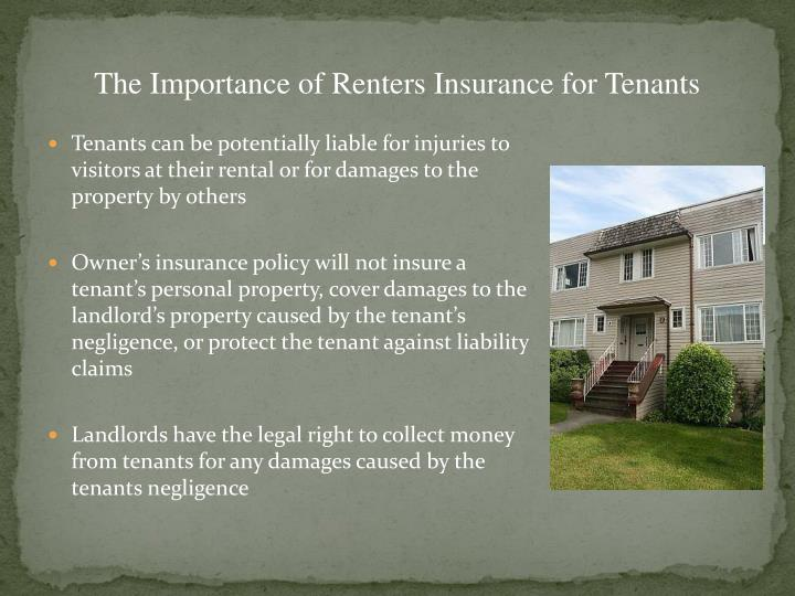 The Importance of Renters Insurance for Tenants
