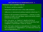 key issues in sai performance 5