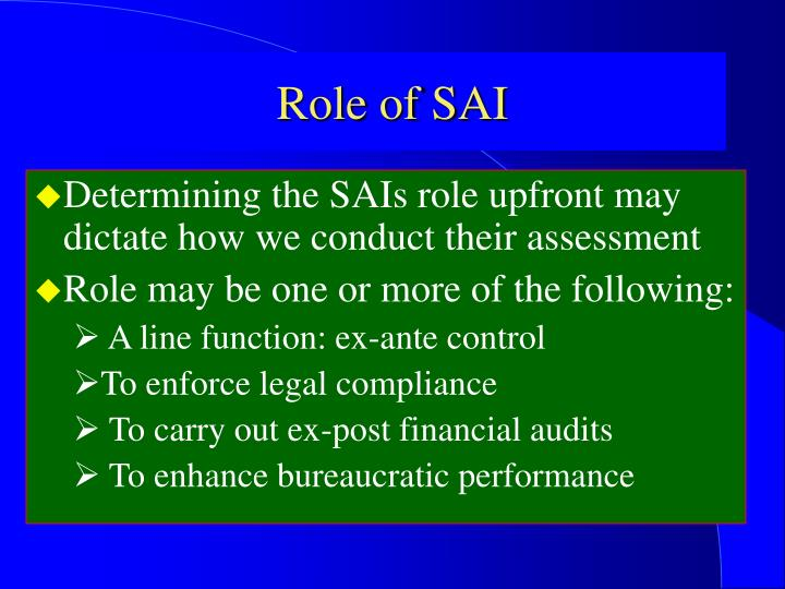 Role of SAI