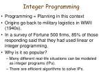 integer programming1