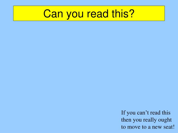 Can you read this