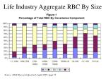 life industry aggregate rbc by size