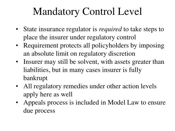 Mandatory Control Level