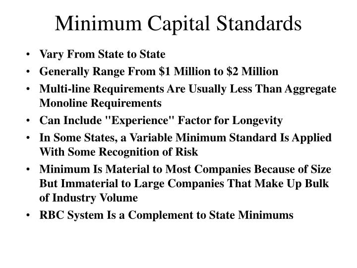 Minimum Capital Standards