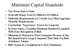 minimum capital standards