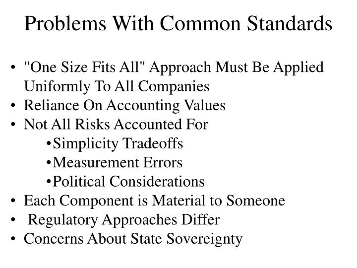 Problems With Common Standards