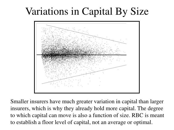 Variations in Capital By Size