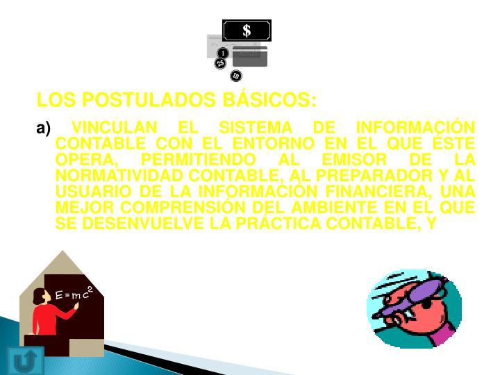 LOS POSTULADOS BÁSICOS: