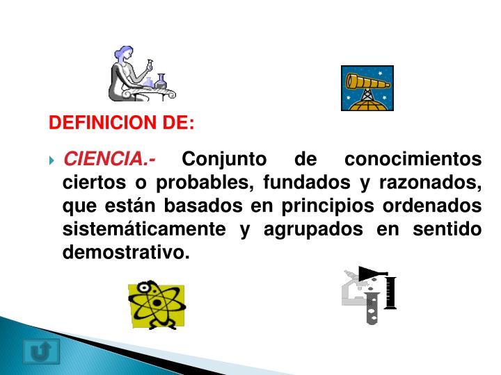 DEFINICION DE: