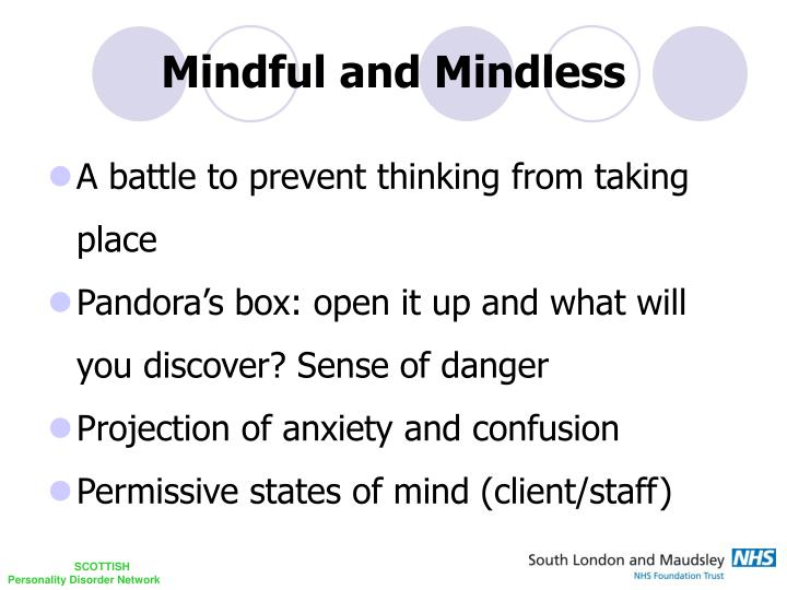 Mindful and Mindless
