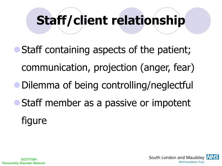Staff/client relationship
