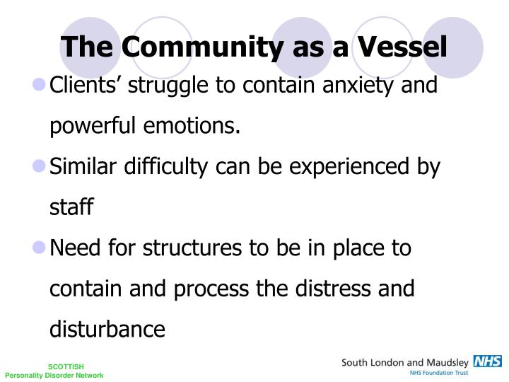 The Community as a Vessel