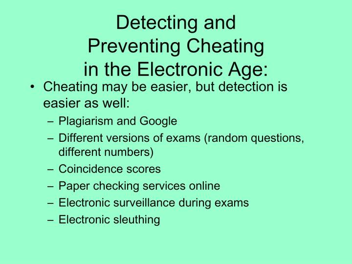 Detecting and