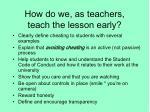how do we as teachers teach the lesson early