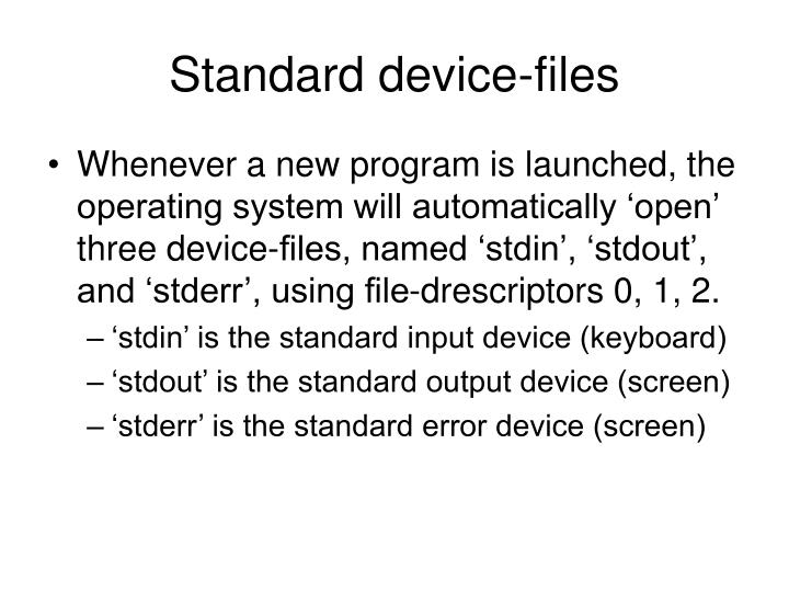 Standard device-files