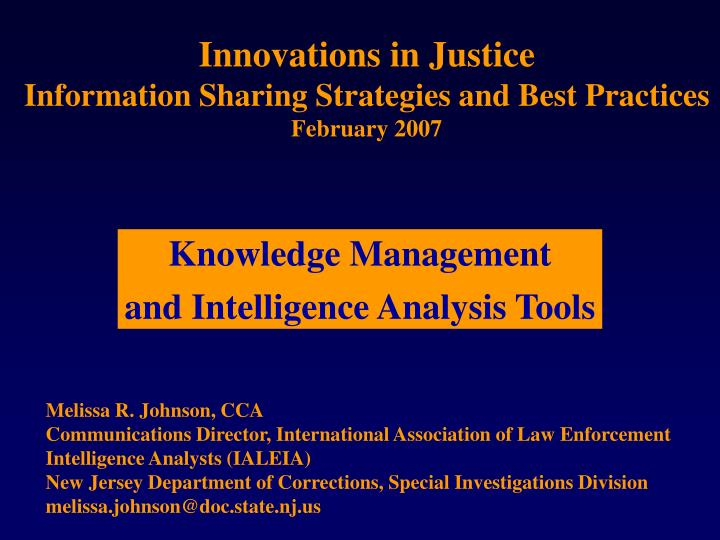 Innovations in Justice