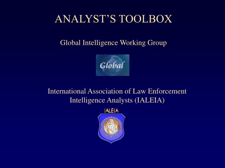 ANALYST'S TOOLBOX