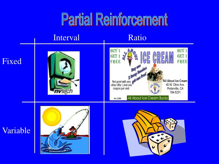 partial reinforcement schedules and exercise essay Partial reinforcement schedules are more resistant to extinction than continuous reinforcement schedules leaders who exercise a tyrannical style of management, resulting in a climate of fear in the workplace.