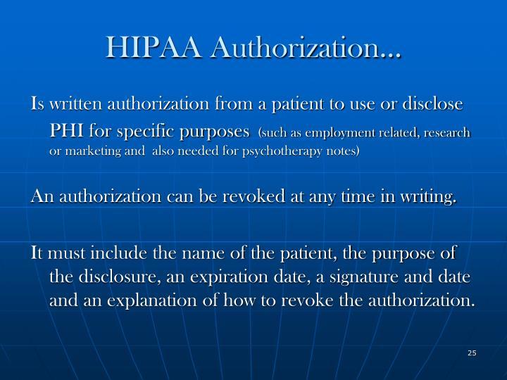 HIPAA Authorization…