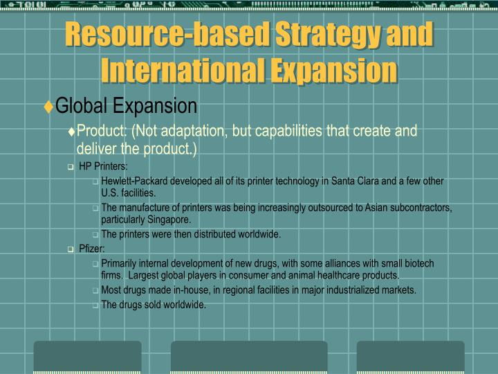 Resource-based Strategy and