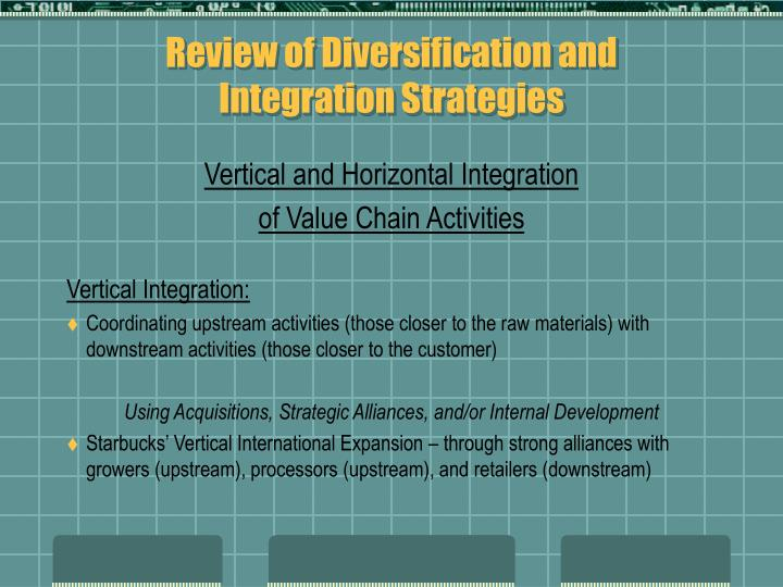 Review of Diversification and