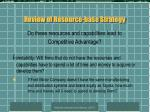 review of resource base strategy8