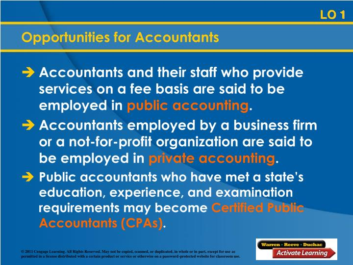 Opportunities for Accountants