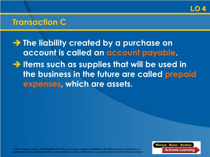 The liability created by a purchase on account is called an