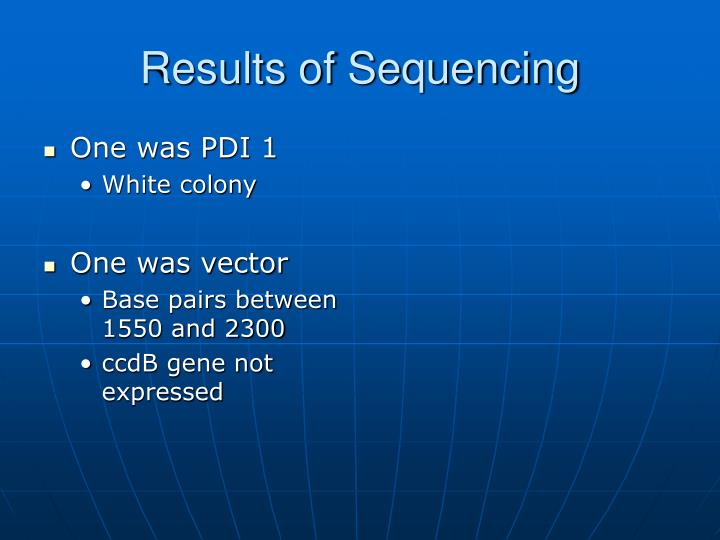 Results of Sequencing