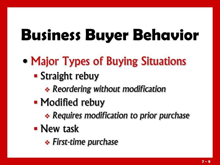 Business Buyer Behavior
