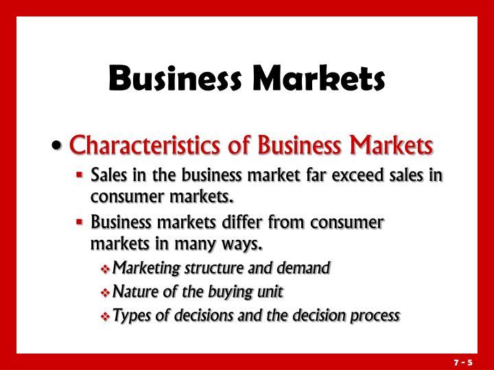 Business Markets
