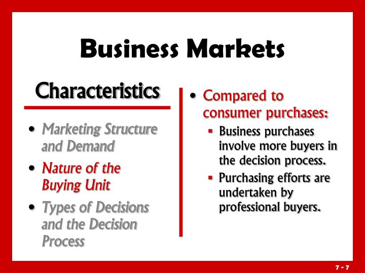 Marketing Structure and Demand