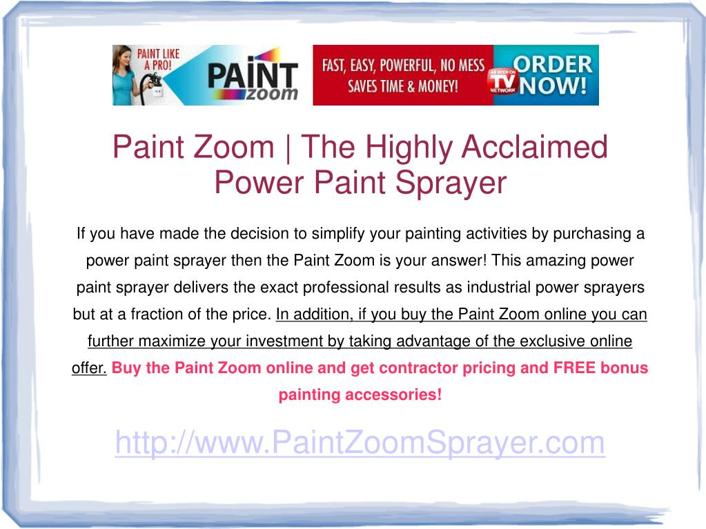 Paint Zoom | The Highly Acclaimed Power Paint Sprayer
